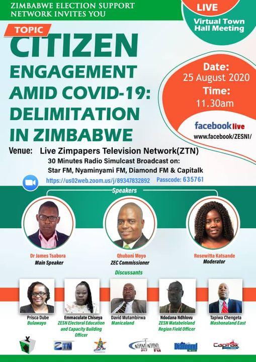 Citizen Engagement Amid COVID-19 Delimitation in Zimbabwe