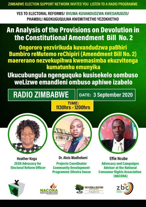 An Analysis of the provisions on Devolution in the Constitutional Amendment Bill No.2